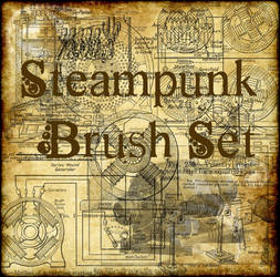 Steampunk Brush Set by Artemis-Stock