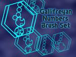 Gallifreyan Numbers Brush Set
