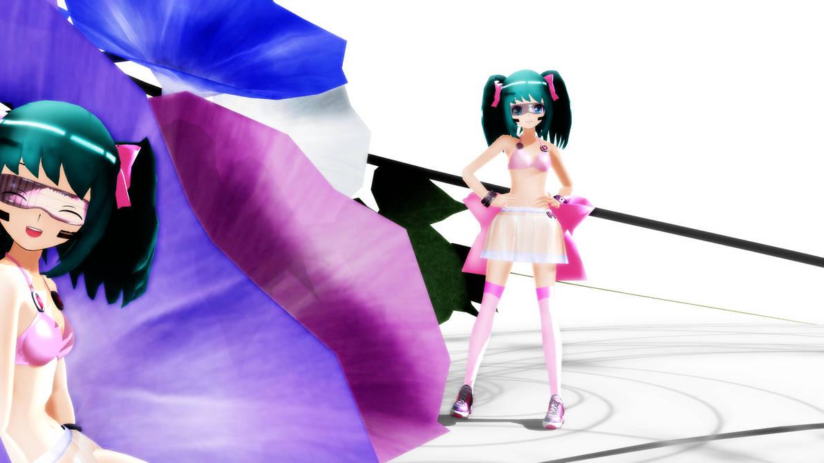 MMD LAT Summer Miku by iiRichie
