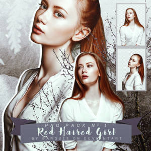PNG Pack No 1 :: Red Haired Girl