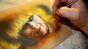 Pris From Blade Runner Painting Video by JeffLafferty