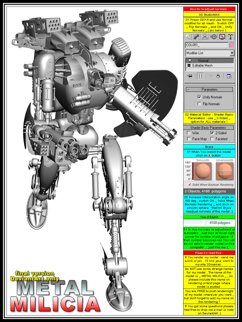 Resources 3d 3d models on cgpersia deviantart for Deviantart 3d models