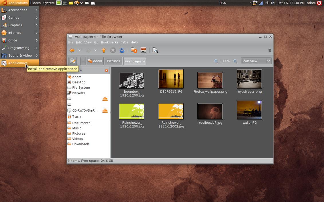 ubuntu 8.10 glass, 9.04 jaunty by osliner