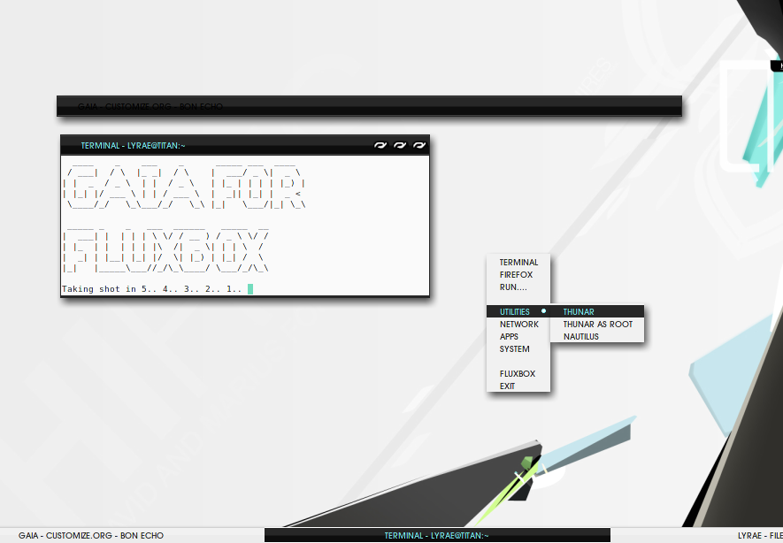 GAIA for Fluxbox by thrynk