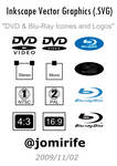 DVD, Blu-Ray Icones and Logos