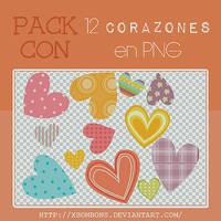 Corazonsitos en png~