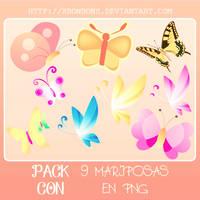 Mariposas en Png~ by xMissOMG