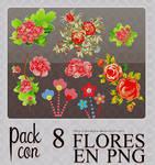 Floresitas en png~