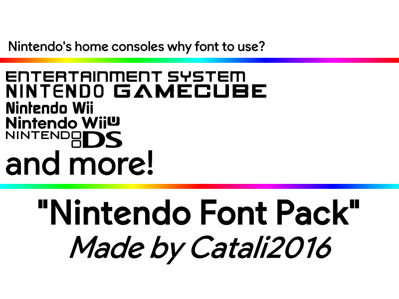 Nintendo Font Pack Version 1 By Cataarchive On Deviantart