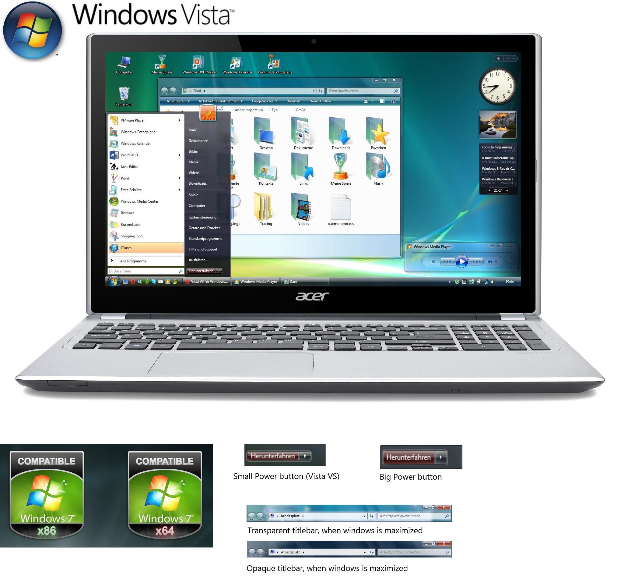 Windows Vista VS for Windows 7 by XReunion160 on DeviantArt