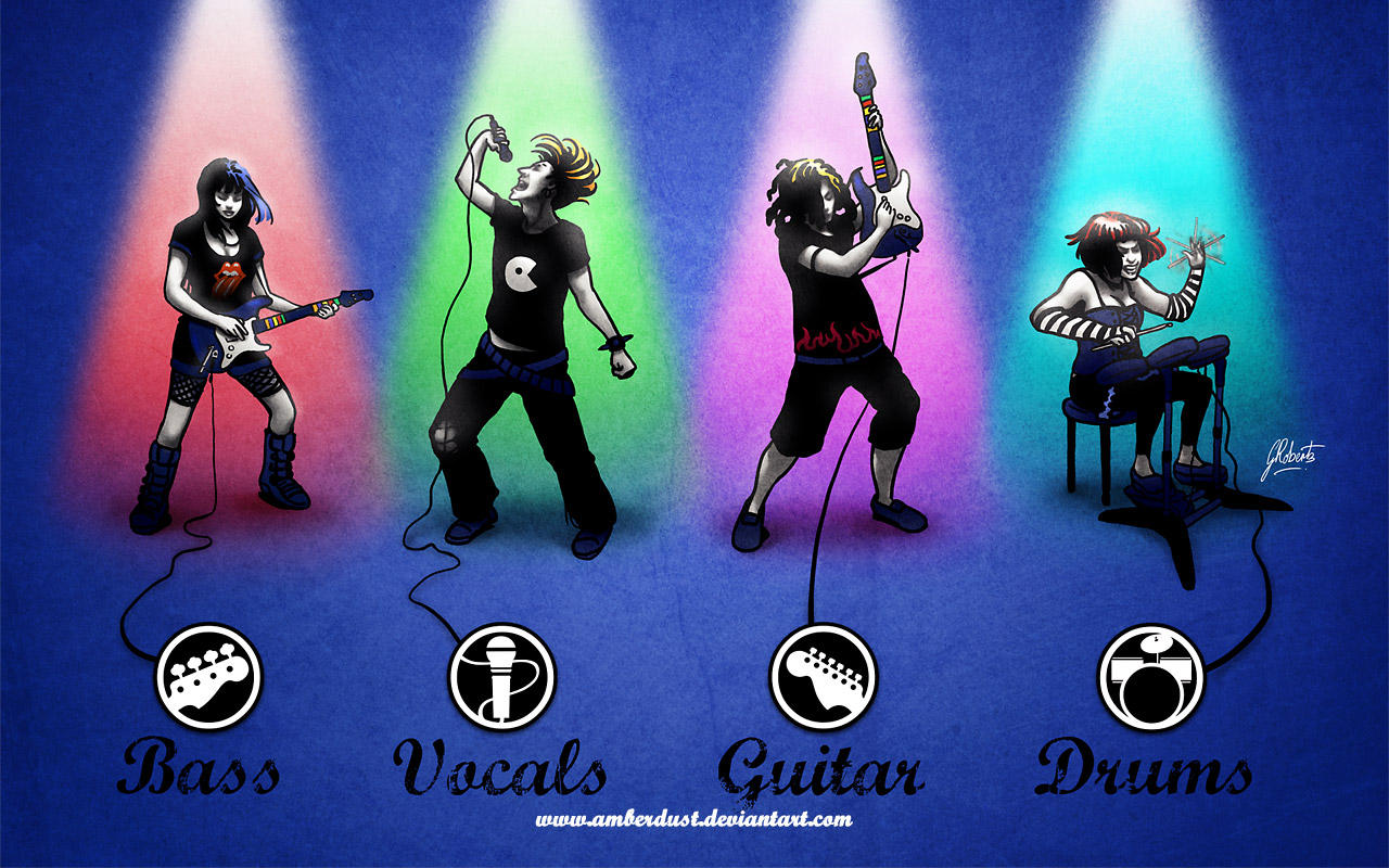 Rockin' Roll Band Wallpapers by AmberDust
