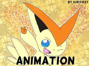 Victini V-create animation.