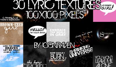 Lyric Textures by iconxraven