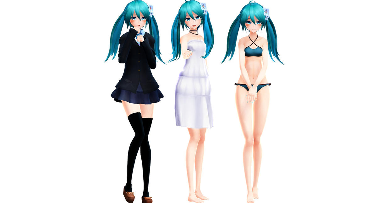 (50 watchers gift!) Miku DL by MMDMikuMikuLen