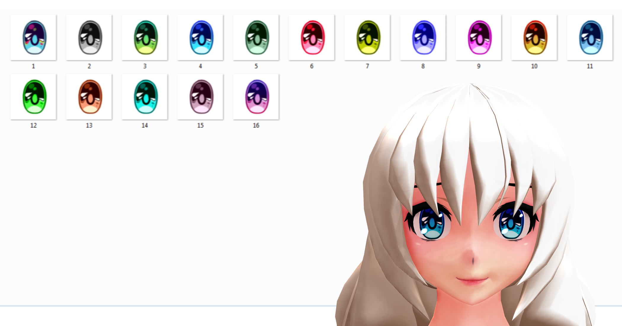 How to change eye texture in pmd
