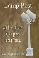 Cutout PNG - Light Post by justiej