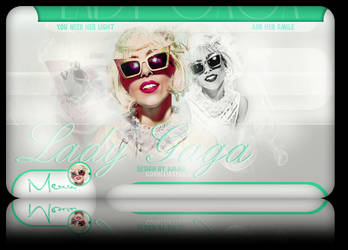 layout with Lady Gaga green by LadyAmme