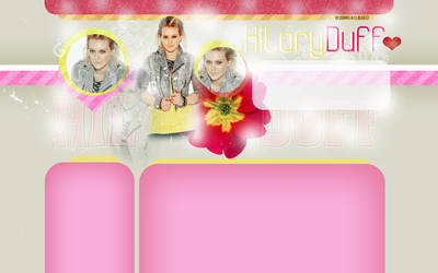 layout with Hilary Duff by LadyAmme