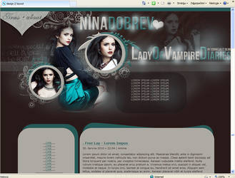 vampire diaries layout by LadyAmme