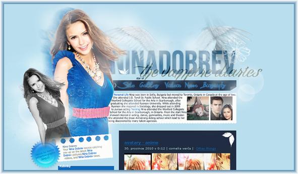 Nina Dobrev layout II by LadyAmme
