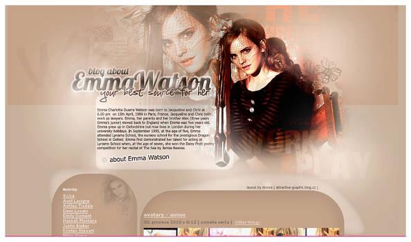 Emma Watson design III by LadyAmme