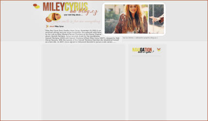 web layout Miley Cyrus by LadyAmme