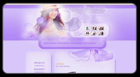 Selena Gomez Layout by LadyAmme