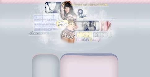 Nicki Minaj Layout by LadyAmme