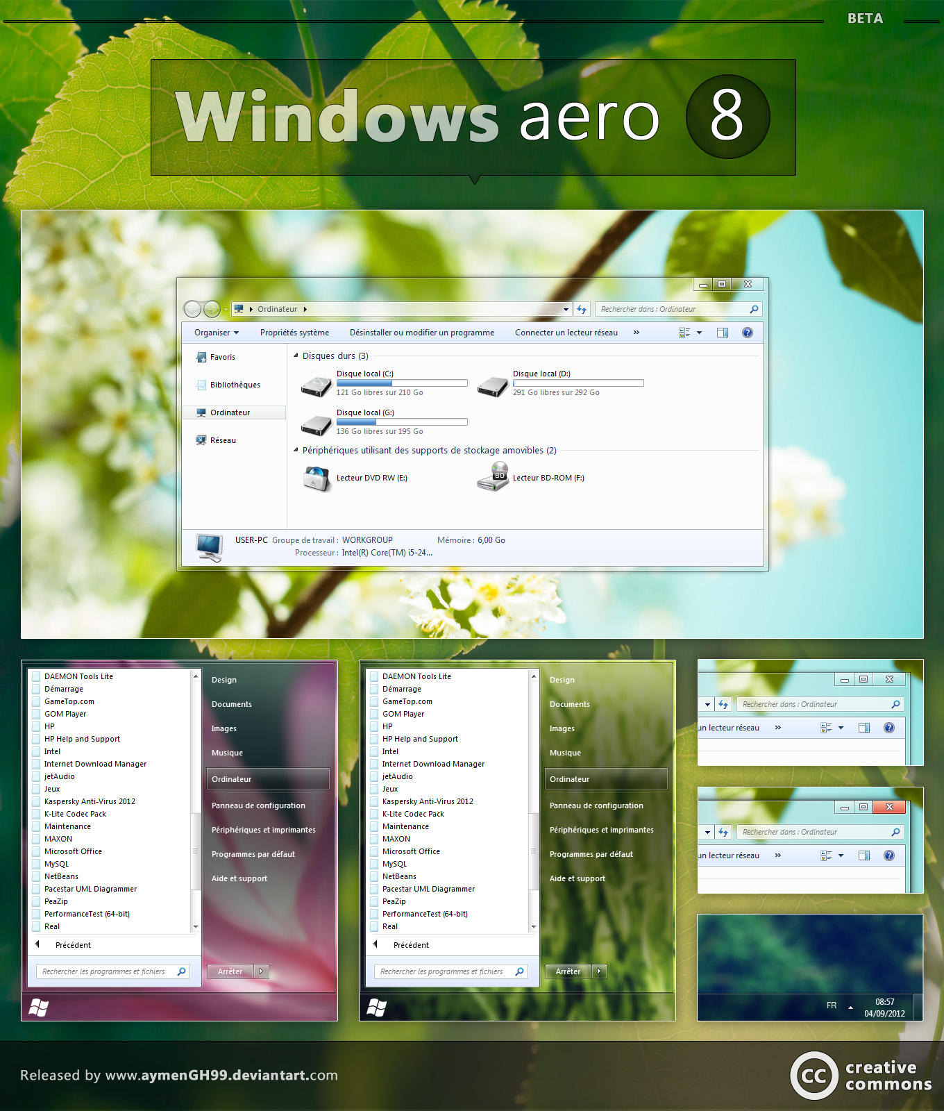 Windows aero 8 by aymenGH99