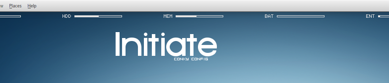 Initiate Conky Config by Gomeriffic