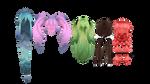 [MMD] Hair Edit Pack 1 [DL!] by blueoaks