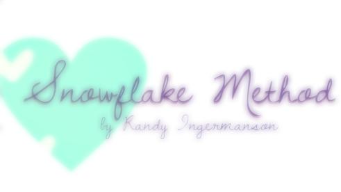 Snowflake Method by Randy Ingermanson Worksheet by appletwilight