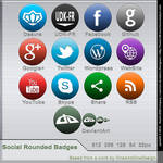 Free Social Rounded Badges