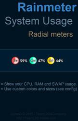 Rainmeter: Circle System Usage v5.2 by JpotatoTL2D