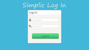 Simplic Log In UI by Erratic-Fox