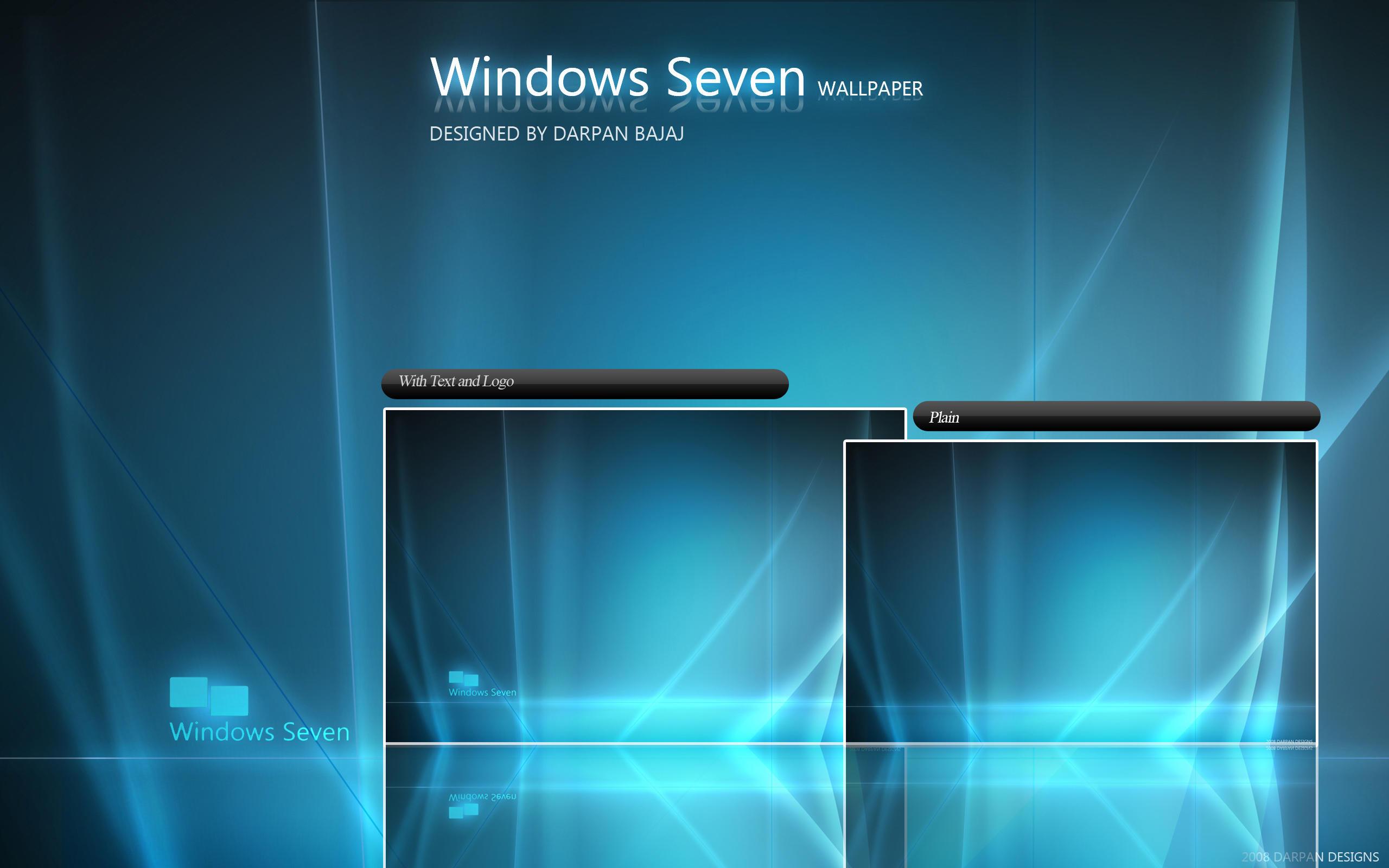 Windows Seven wallpaper by darpan-aero