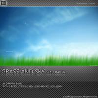 Grass and Sky wallpaper by darpan-aero