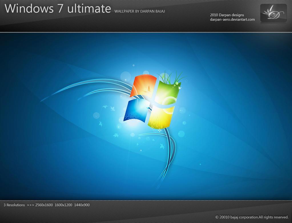 windows 7 ultimate wallpaperdarpan-aero on deviantart