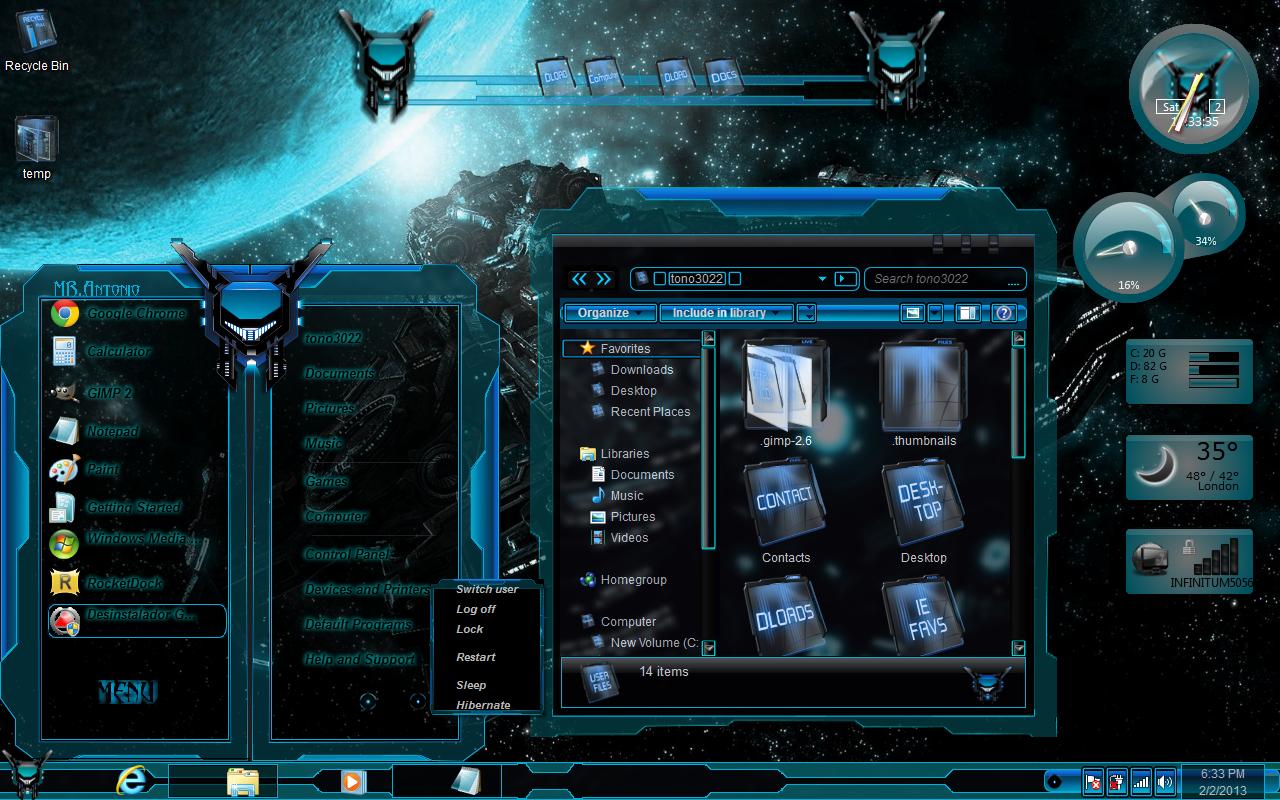 Windows 7 themes aqua glass by newthemes on deviantart for Window 07 themes