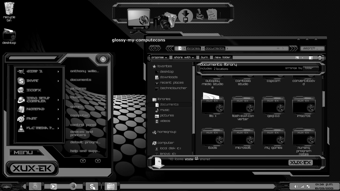 Download latest windows 7 theme for xp free software for Window 07 themes