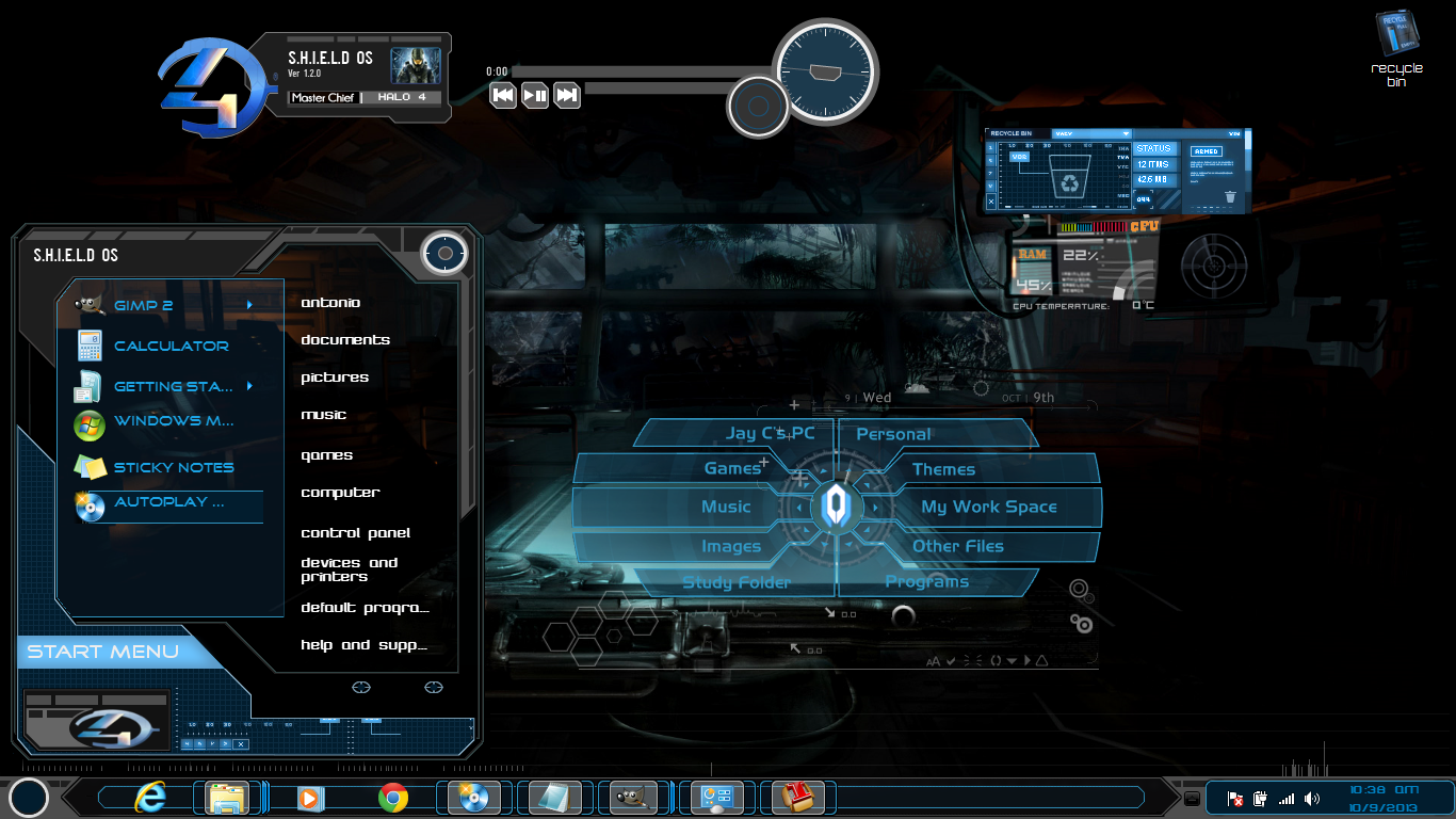 Windows 7 themes black xux by newthemes on deviantart for Theme d ecran