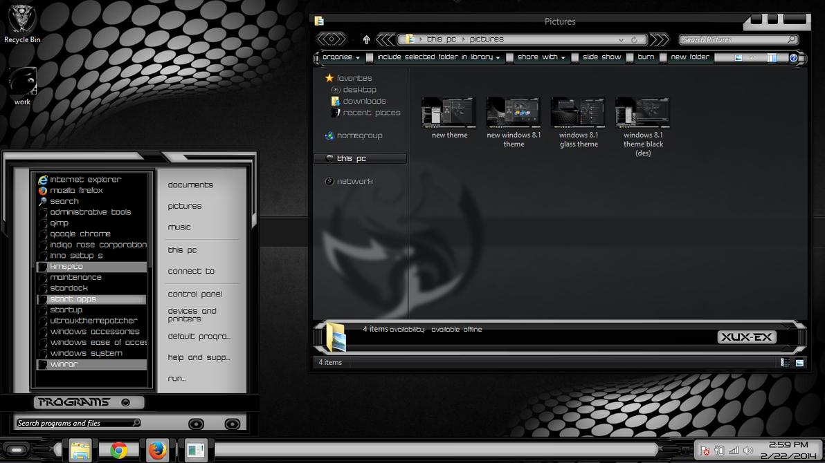 Windows 8 1 theme black xux ek by newthemes on deviantart