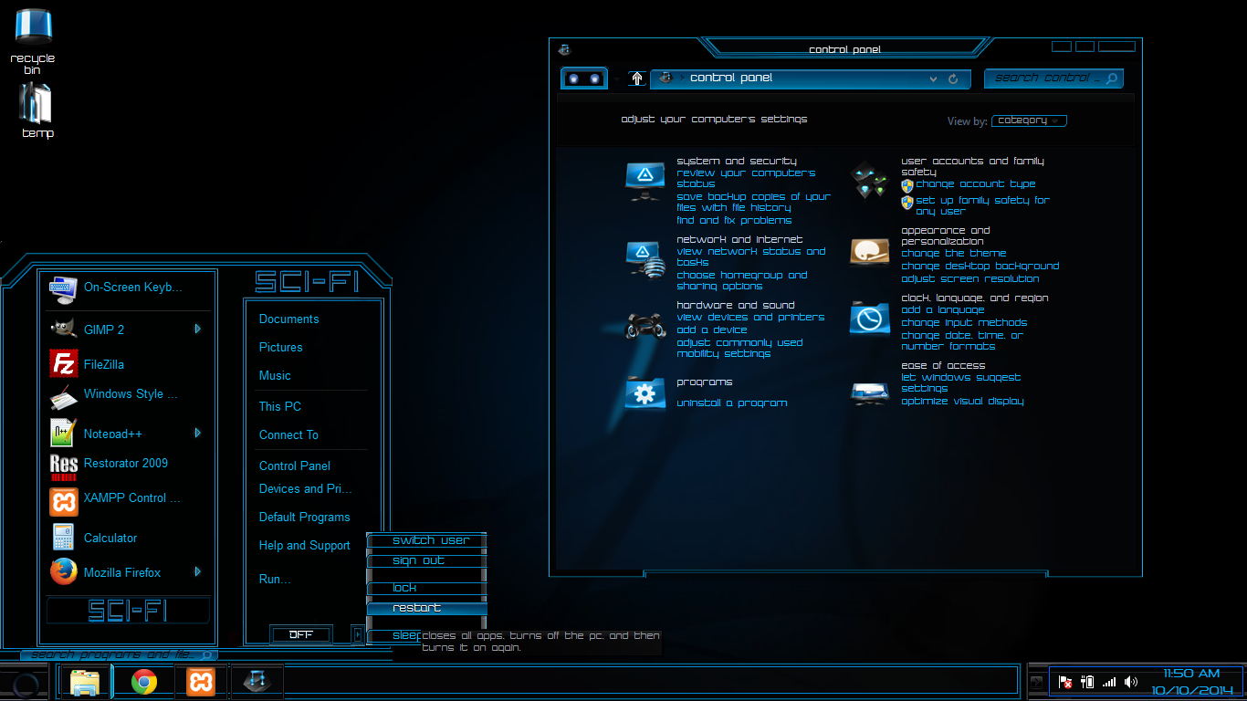 windows 8 8 1 and 10 theme sci fi by newthemes on deviantart