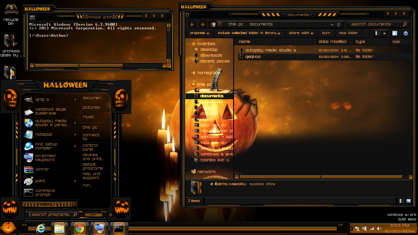 windows 81 theme halloween by newthemes windows 81 theme halloween by newthemes - Windows 7 Halloween Theme