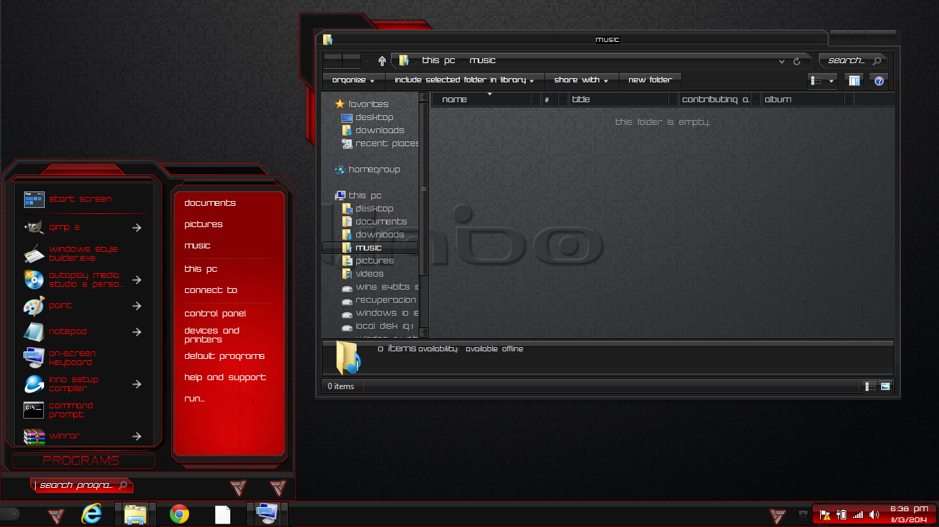 Windows 8 1 theme red limbo by newthemes on deviantart for Window 07 themes