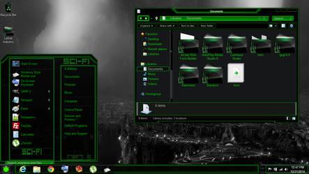 Windows 8 theme green sci-fi by newthemes