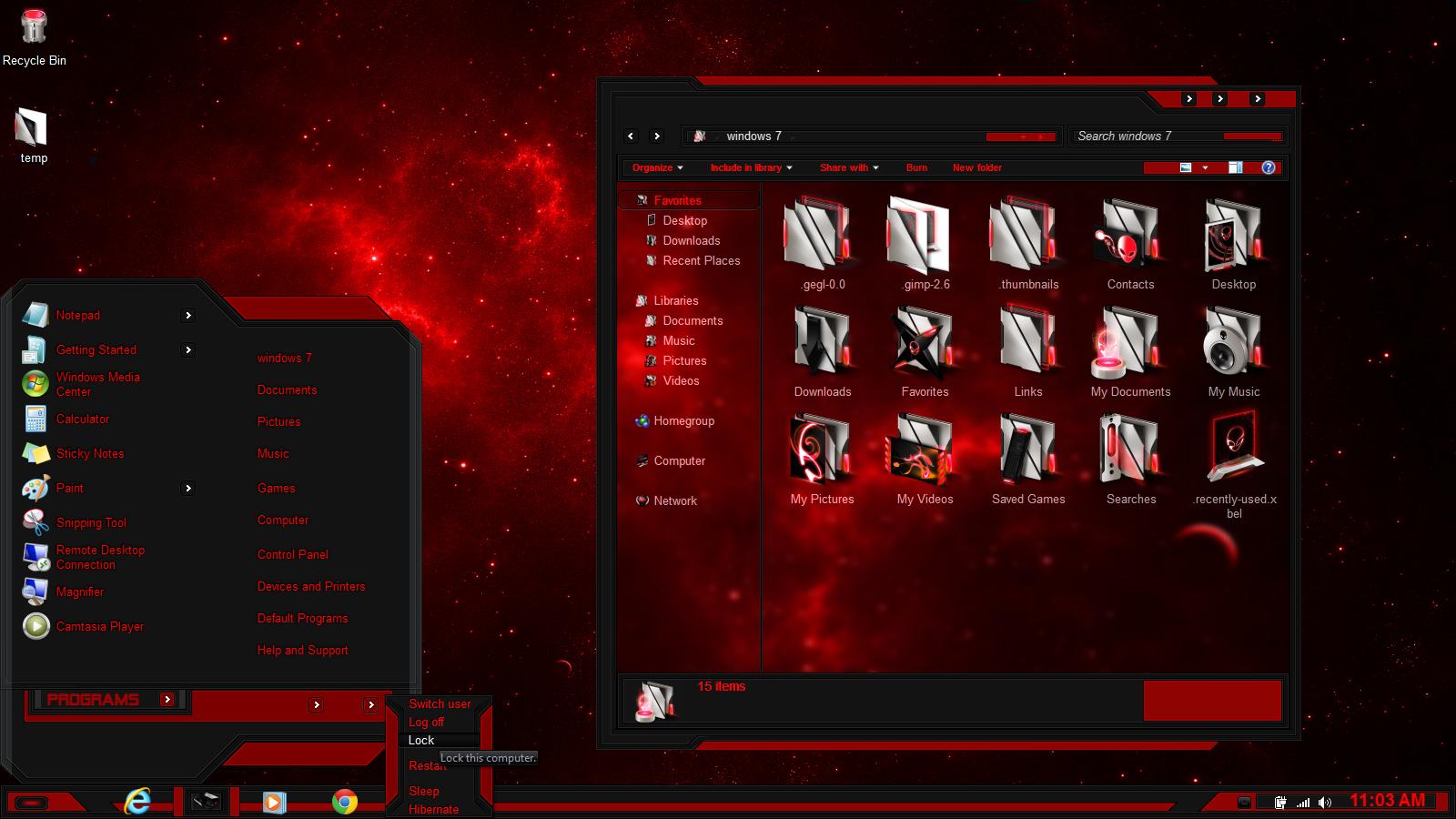 Red And Black Windows 7 Themes Windows 7 theme...