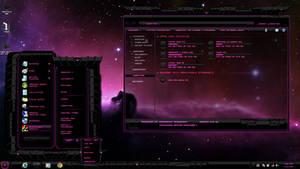 Windows 7 theme Pink Dark Glass Updated May 4 2015