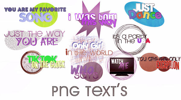 Textos png by awesomeedits