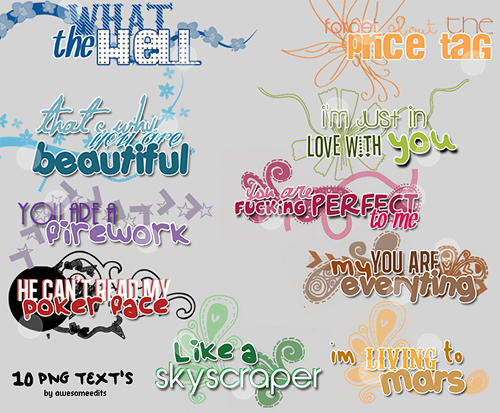 10 textos png by awesomeedits